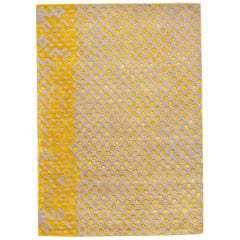 Raindrops Medium Yellow Gray Rug by Matteo Cibic