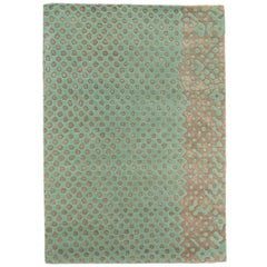 Raindrops Medium Mint Green Rug by Matteo Cibic