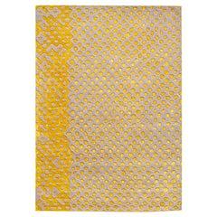Scarlet Splendour Mittelgroßer Raindrops Teppich in Gelb von Matteo Cibic