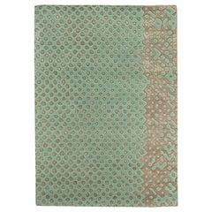 Scarlet Splendour Mittelgroßer Raindrops Teppich in Grün von Matteo Cibic