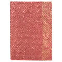 Scarlet Splendour Mittelgroßer Raindrops Teppich in Rot von Matteo Cibic