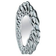 Raindrops Mirror in Silver Finish