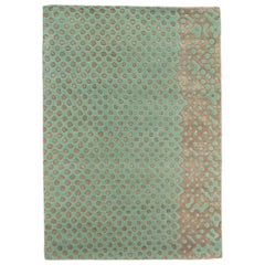 Raindrops Small Mint Green Rug by Matteo Cibic