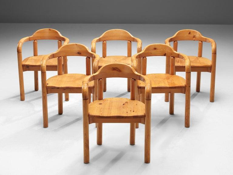 Mid-Century Modern Rainer Daumiller Armchairs in Pine For Sale