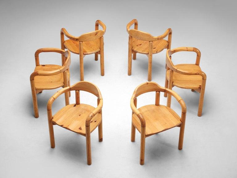 Danish Rainer Daumiller Armchairs in Pine For Sale