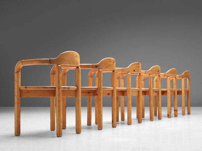 Rainer Daumiller Armchairs in Pine In Good Condition For Sale In Waalwijk, NL