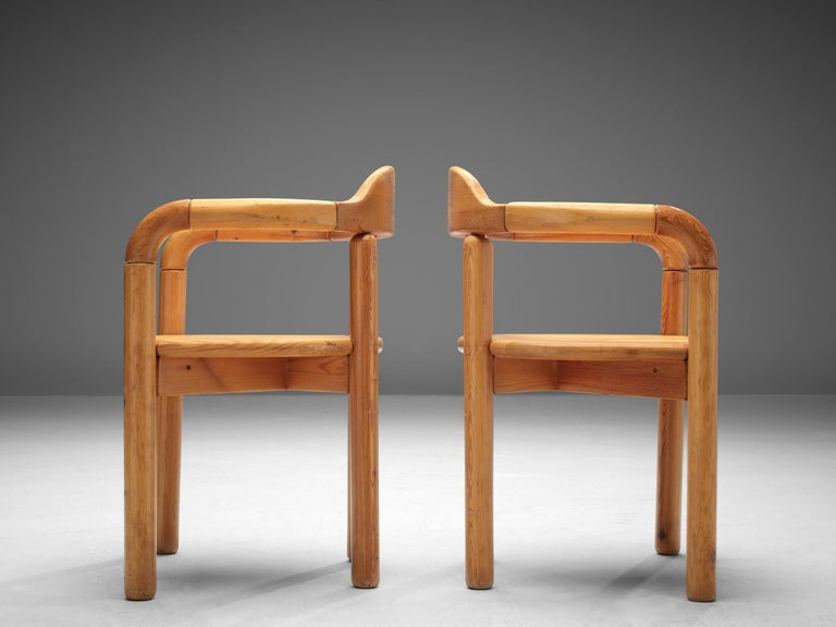 Rainer Daumiller Armchairs in Pine For Sale 1