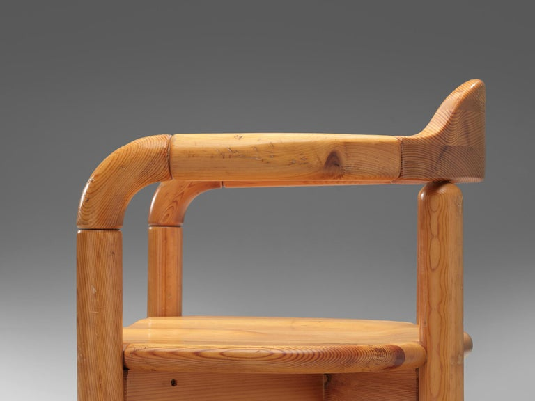 Rainer Daumiller Armchairs in Pine For Sale 2