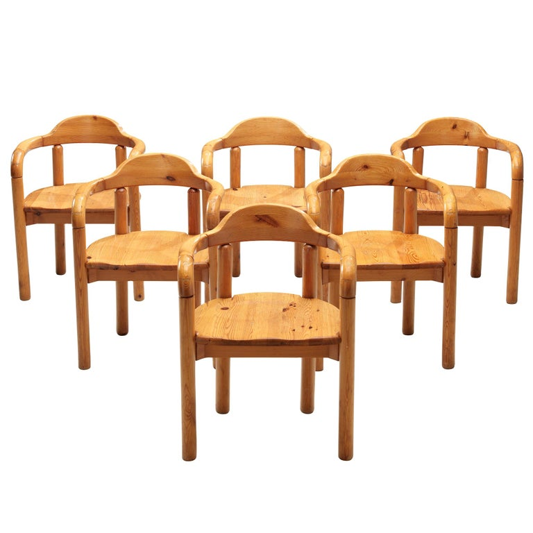 Rainer Daumiller Armchairs in Pine For Sale