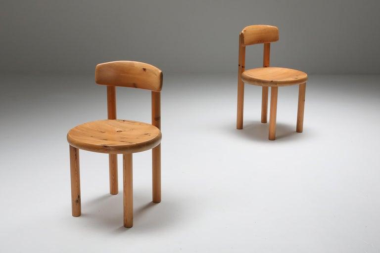 Mid-Century Modern Rainer Daumiller Dining Chairs in Pine
