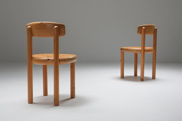 Swedish Rainer Daumiller Dining Chairs in Pine