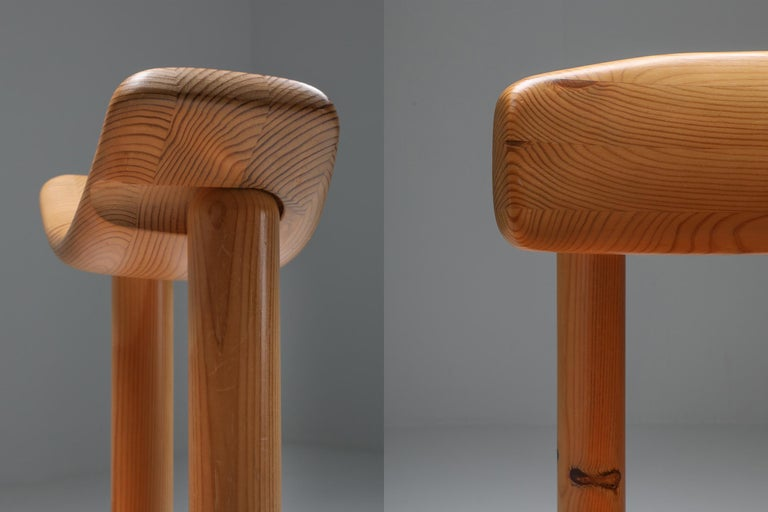 Rainer Daumiller Dining Chairs in Pine In Excellent Condition In Antwerp, BE