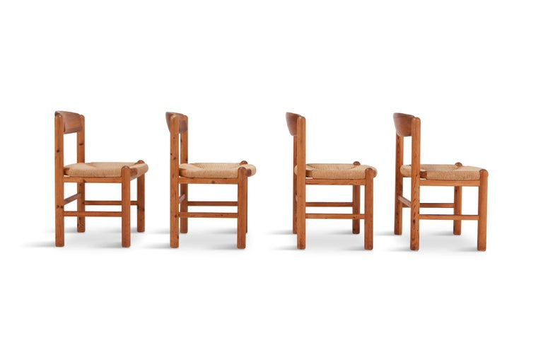 Mid-Century Modern Rainer Daumiller Dining Chairs in Solid Pine, Set of Six  For Sale