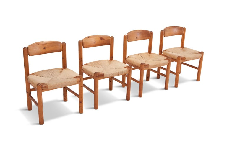 Danish Rainer Daumiller Dining Chairs in Solid Pine, Set of Six  For Sale