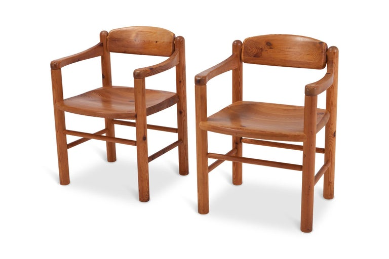 Rainer Daumiller Dining Chairs in Solid Pine, Set of Six  In Good Condition For Sale In Antwerp, BE