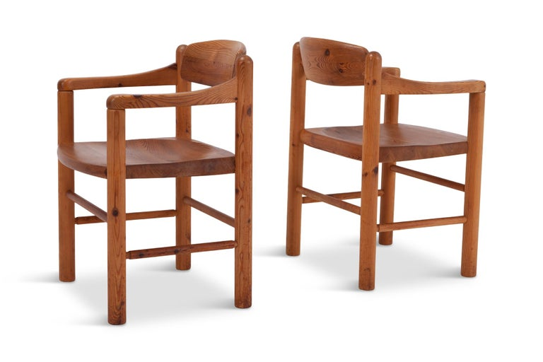 Late 20th Century Rainer Daumiller Dining Chairs in Solid Pine, Set of Six  For Sale