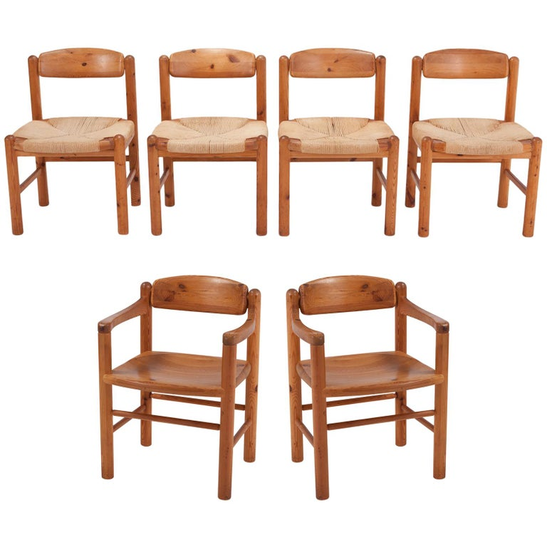 Rainer Daumiller Dining Chairs in Solid Pine, Set of Six  For Sale