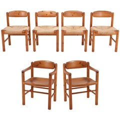 Rainer Daumiller Dining Chairs in Solid Pine, Set of Six