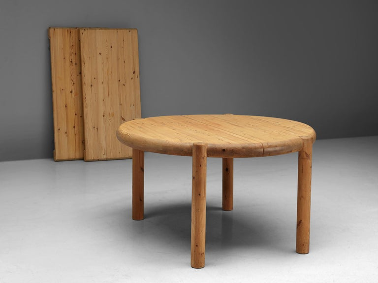 Mid-Century Modern Rainer Daumiller Extendable Dining Table in Pine For Sale