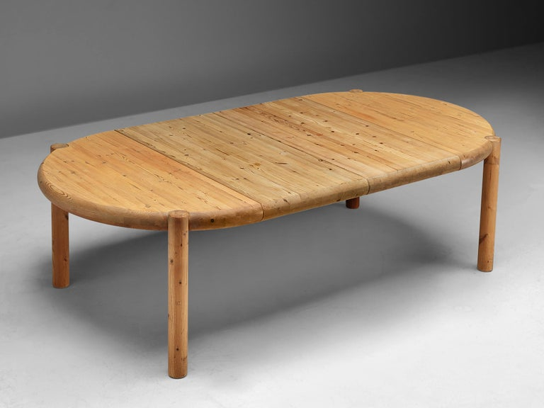 Danish Rainer Daumiller Extendable Dining Table in Pine For Sale