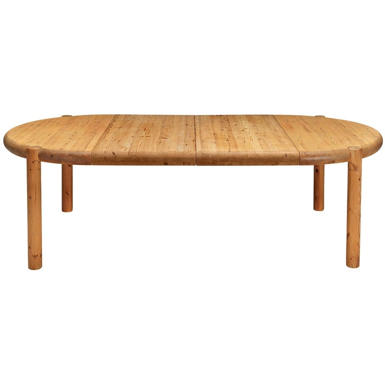 Rainer Daumiller Extendable Dining Table in Pine For Sale