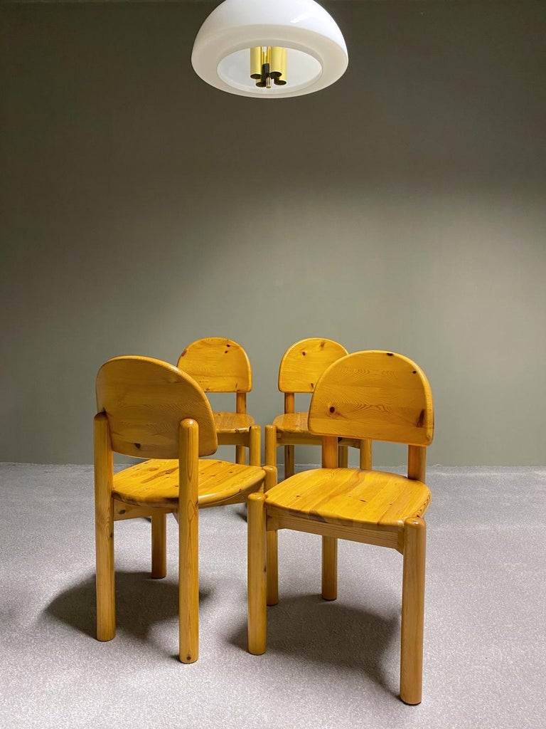 Rainer Daumiller for Hirtshals Savvaerk Dining Set, Solid Pine, 1970s, Denmark For Sale 4