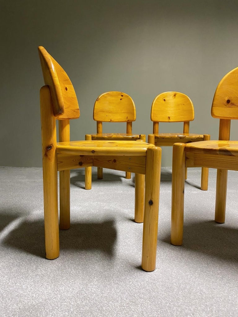 Rainer Daumiller for Hirtshals Savvaerk Dining Set, Solid Pine, 1970s, Denmark For Sale 6