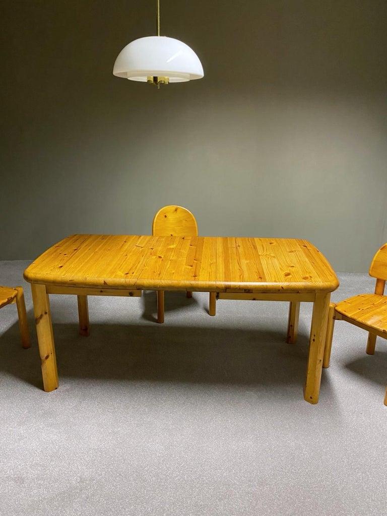 20th Century Rainer Daumiller for Hirtshals Savvaerk Dining Set, Solid Pine, 1970s, Denmark For Sale