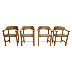 Rainer Daumiller for Hirtshals Sawmill Set of 4 Dining Room Chairs, Denmark 1970