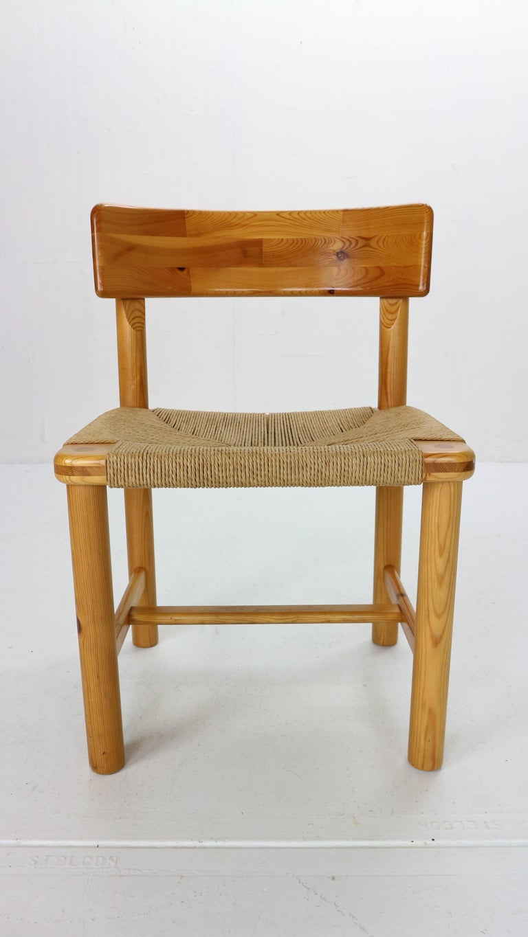 Rainer Daumiller for Hirtshals Sawmill Set of 6 Dining Room Chairs, Denmark 1970 For Sale 2