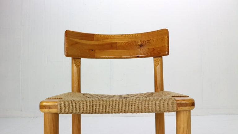 Rainer Daumiller for Hirtshals Sawmill Set of 6 Dining Room Chairs, Denmark 1970 For Sale 3