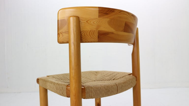 Rainer Daumiller for Hirtshals Sawmill Set of 6 Dining Room Chairs, Denmark 1970 For Sale 4