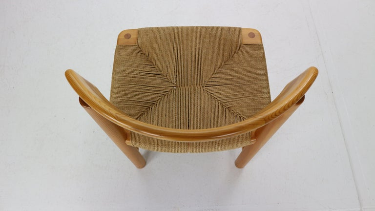 Rainer Daumiller for Hirtshals Sawmill Set of 6 Dining Room Chairs, Denmark 1970 For Sale 5