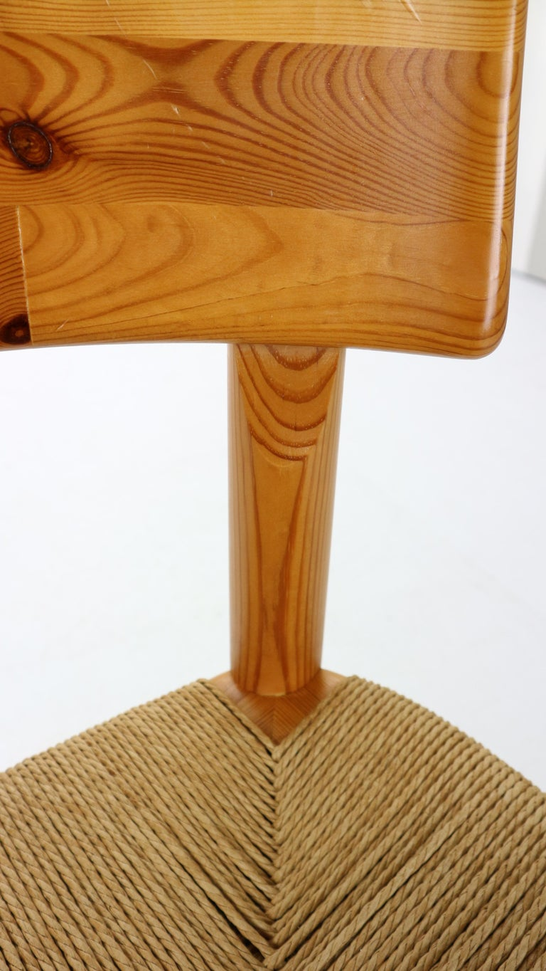 Rainer Daumiller for Hirtshals Sawmill Set of 6 Dining Room Chairs, Denmark 1970 For Sale 10