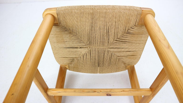 Rainer Daumiller for Hirtshals Sawmill Set of 6 Dining Room Chairs, Denmark 1970 For Sale 12