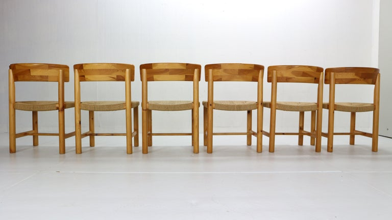 Rainer Daumiller for Hirtshals Sawmill Set of 6 Dining Room Chairs, Denmark 1970 In Good Condition For Sale In The Hague, NL