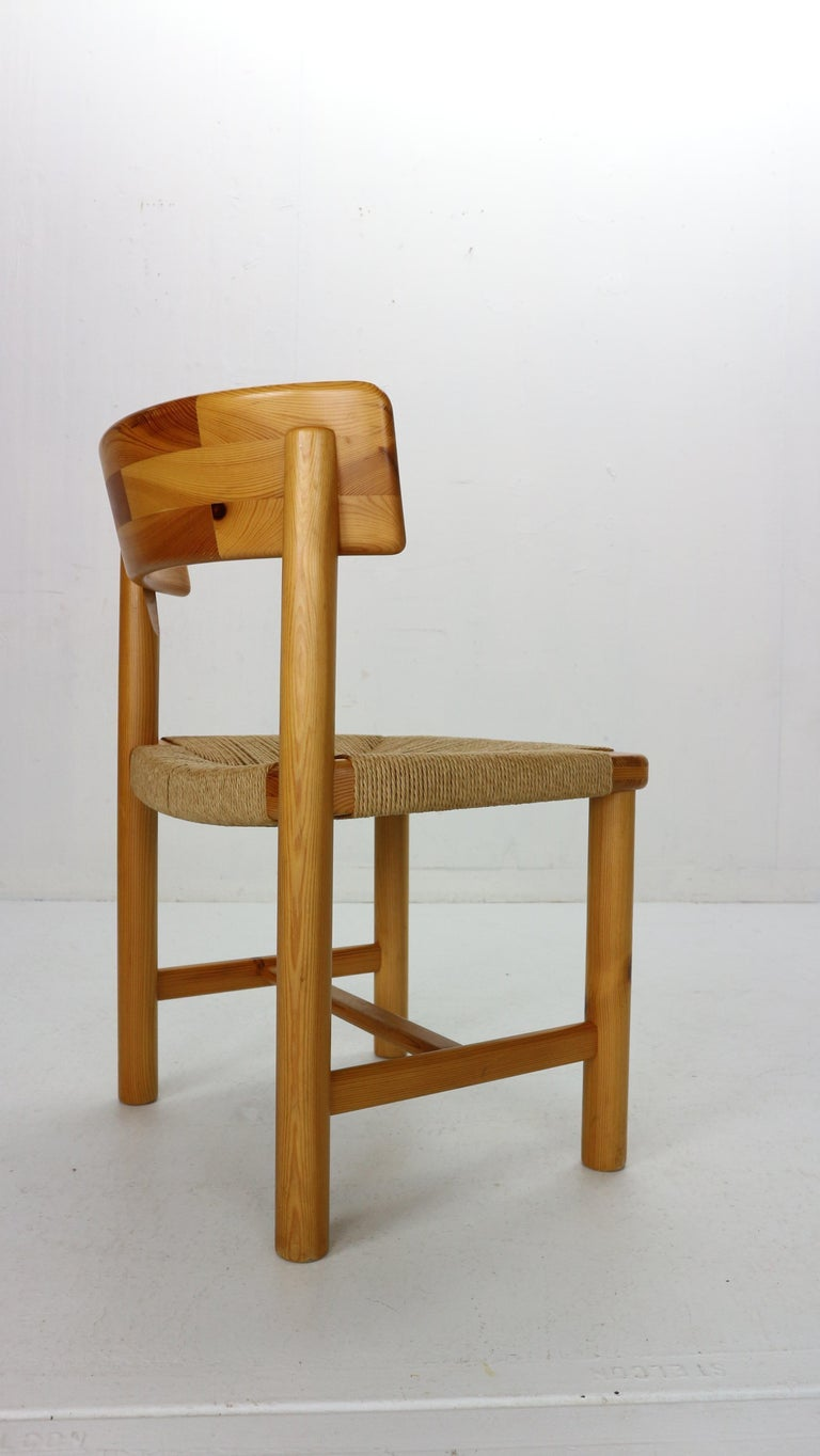 Rainer Daumiller for Hirtshals Sawmill Set of 6 Dining Room Chairs, Denmark 1970 For Sale 1
