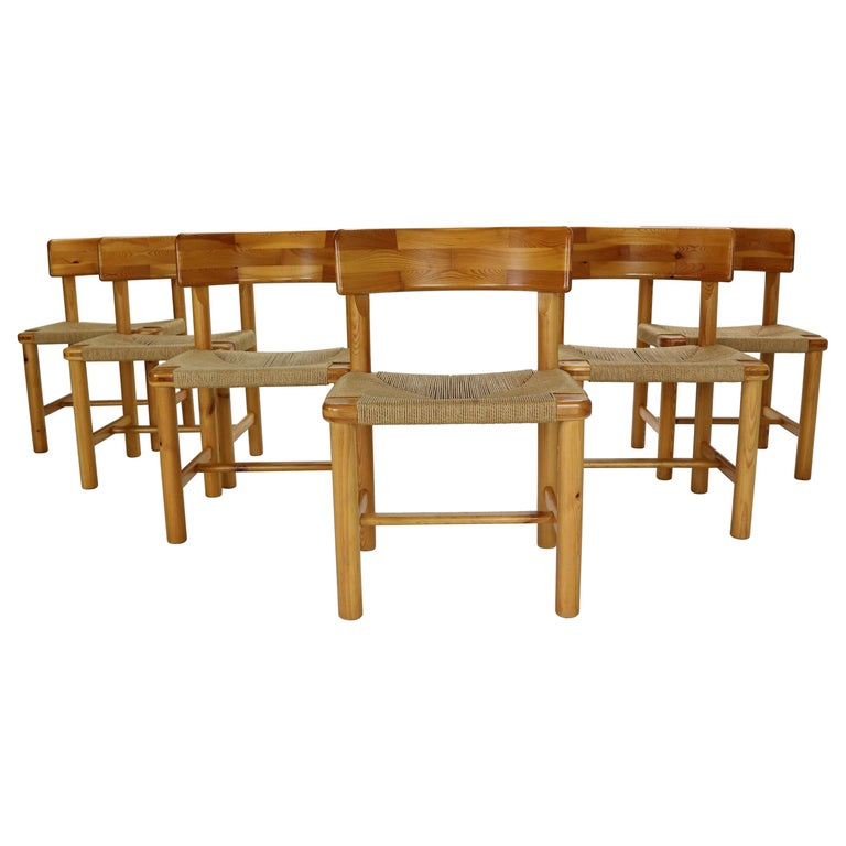 Rainer Daumiller for Hirtshals Sawmill Set of 6 Dining Room Chairs, Denmark 1970 For Sale
