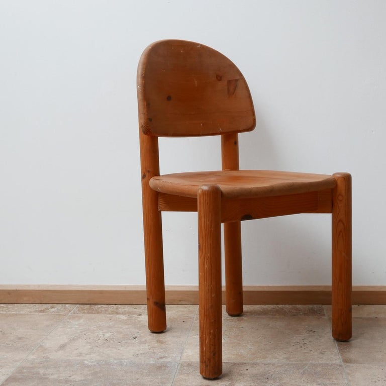 Rainer Daumiller Midcentury Pine Dining Chairs '6' For Sale 8