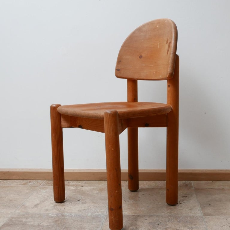 Rainer Daumiller Midcentury Pine Dining Chairs '6' For Sale 11