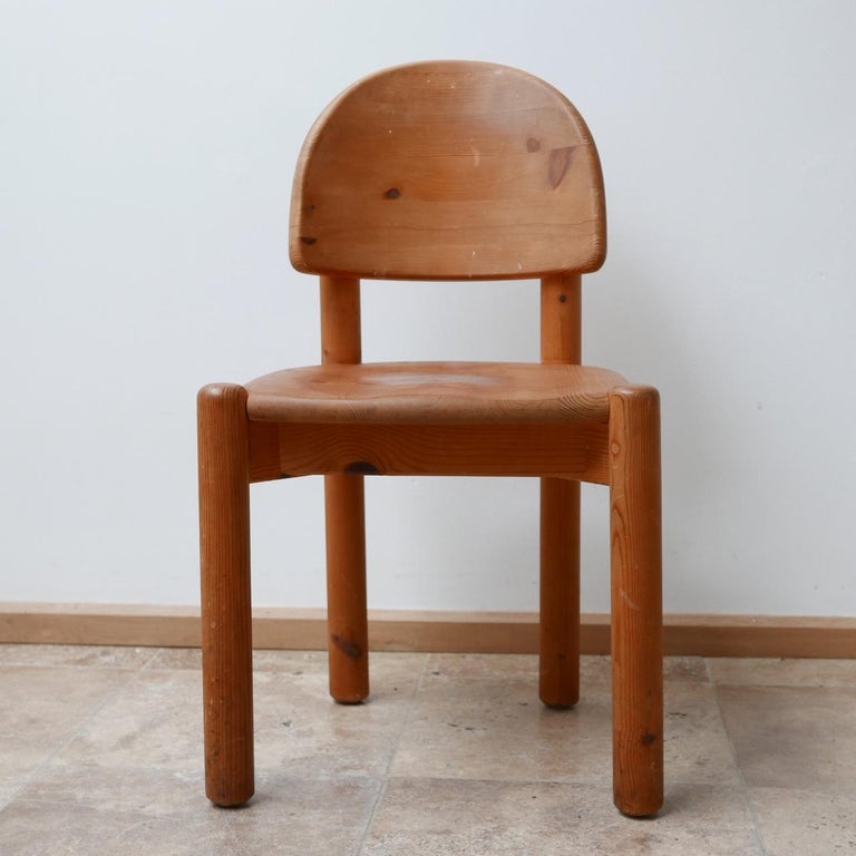 Rainer Daumiller Midcentury Pine Dining Chairs '6' For Sale 12