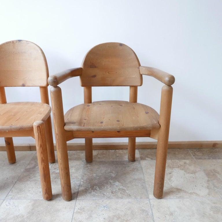 Mid-Century Modern Rainer Daumiller Midcentury Pine Dining Chairs '6' For Sale