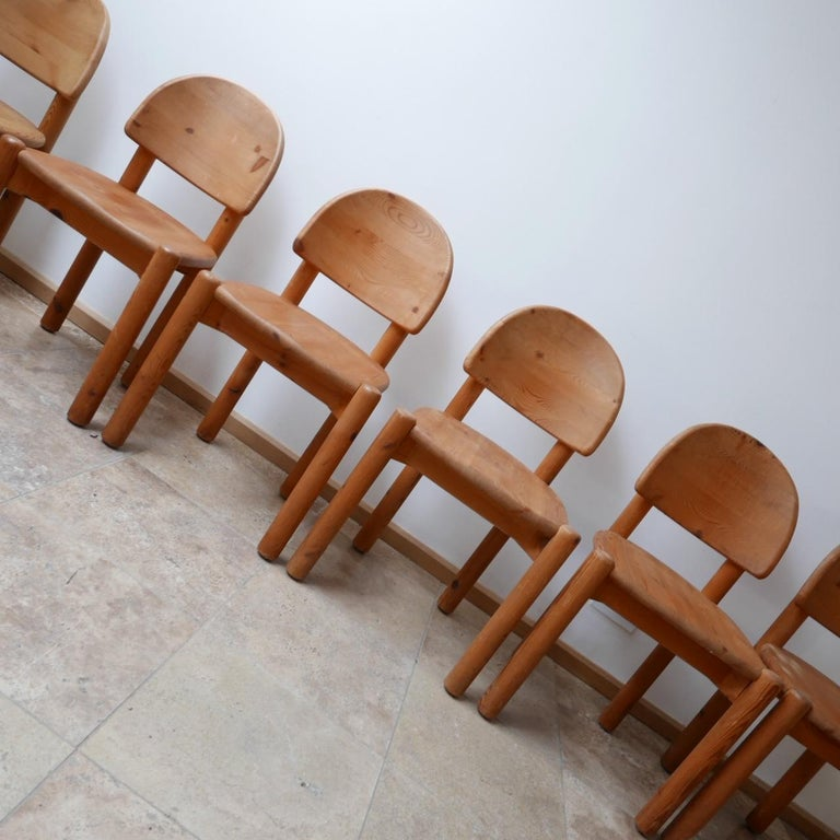 20th Century Rainer Daumiller Midcentury Pine Dining Chairs '6' For Sale