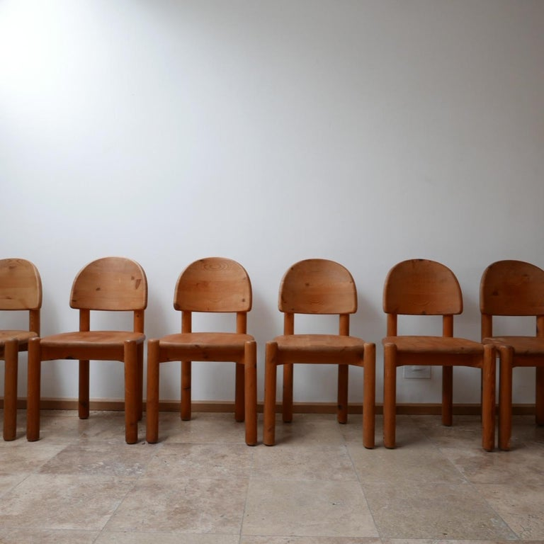 Rainer Daumiller Midcentury Pine Dining Chairs '6' For Sale 1