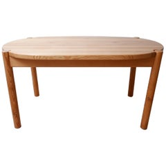Rainer Daumiller Midcentury Danish Pine Dining Table