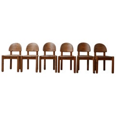 Rainer Daumiller Midcentury Pine Dining Chairs '9'