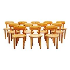 Rainer Daumiller Pine Chairs Set of 12 Denmark 1970