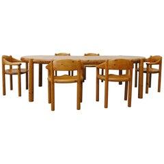 Rainer Daumiller Pine Dining Set for Hirtshals Savvaerk