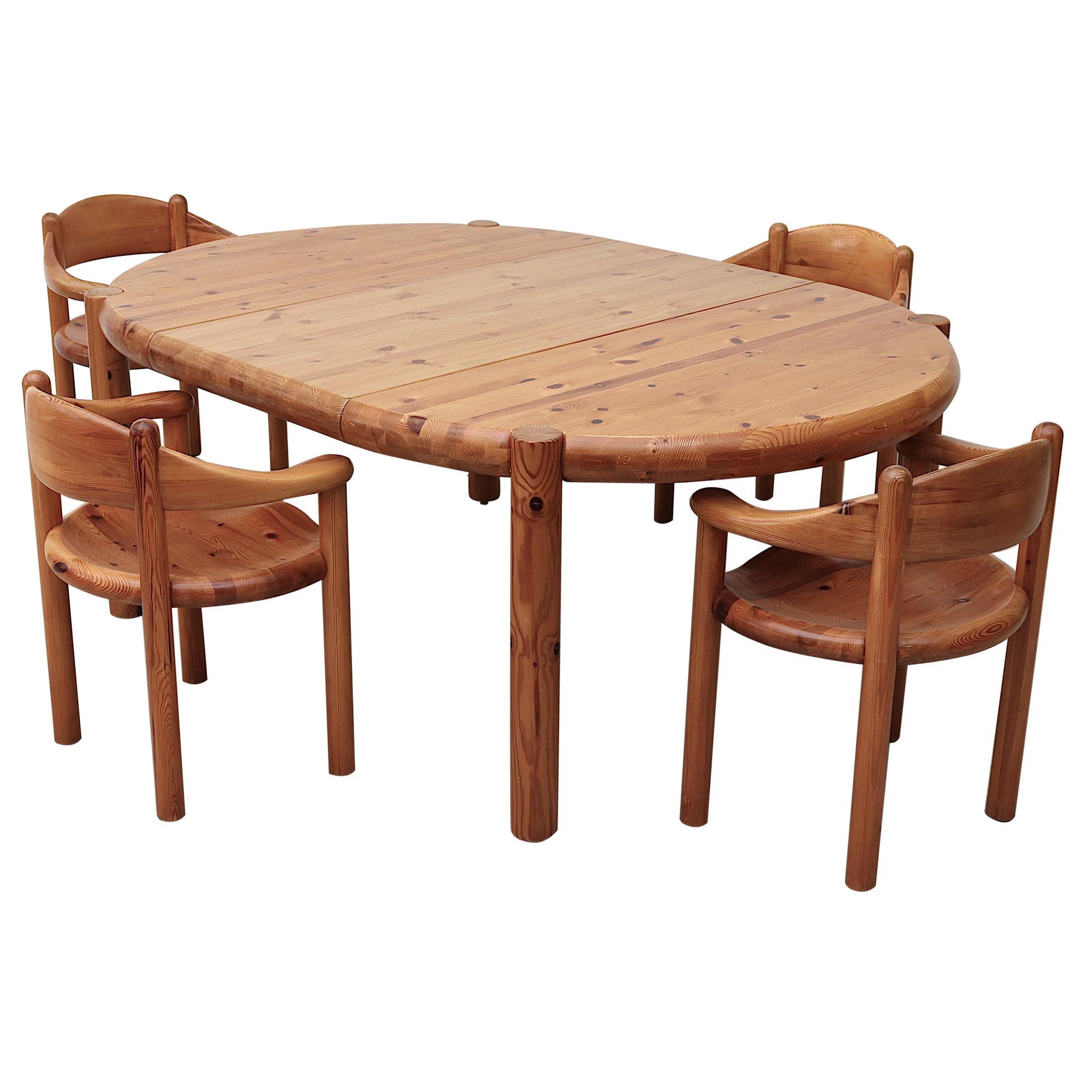 Rainer Daumiller Pine Dining Table for Hirtshals Savvaerk