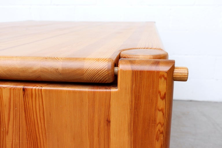 Rainer Daumiller Pine Dining Table with Single Leaf For Sale 7